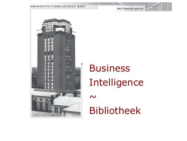 Business Intelligence ~ Bibliotheek