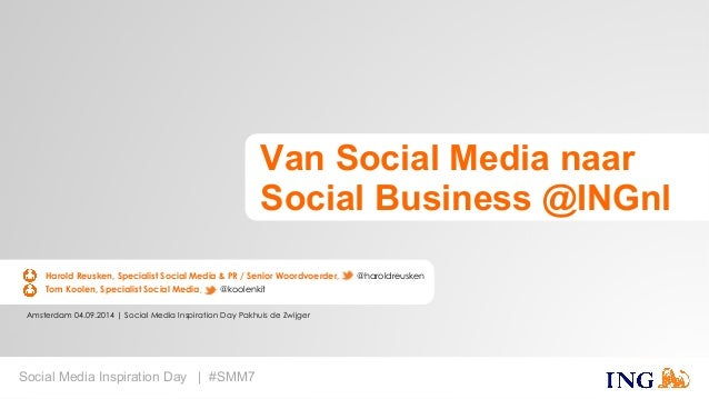 Amsterdam 04.09.2014 | Social Media Inspiration Day Pakhuis de Zwijger  Social Media Inspiration Day | #SMM7  Van Social M...