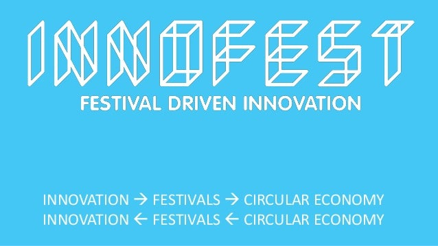 INNOVATION  FESTIVALS  CIRCULAR ECONOMY INNOVATION  FESTIVALS  CIRCULAR ECONOMY