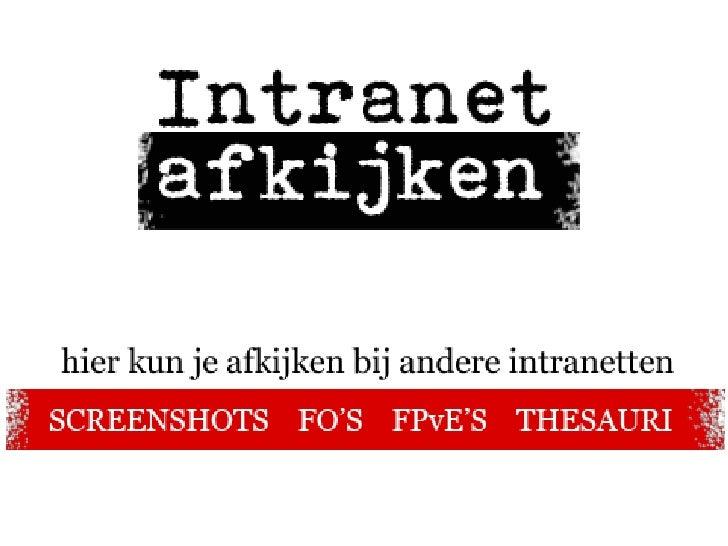 • Opgericht vanuit behoefte in de praktijk • Onafhankelijk platform, iedereen mag meedoen • Screenshots, FPvE's en Thesaur...