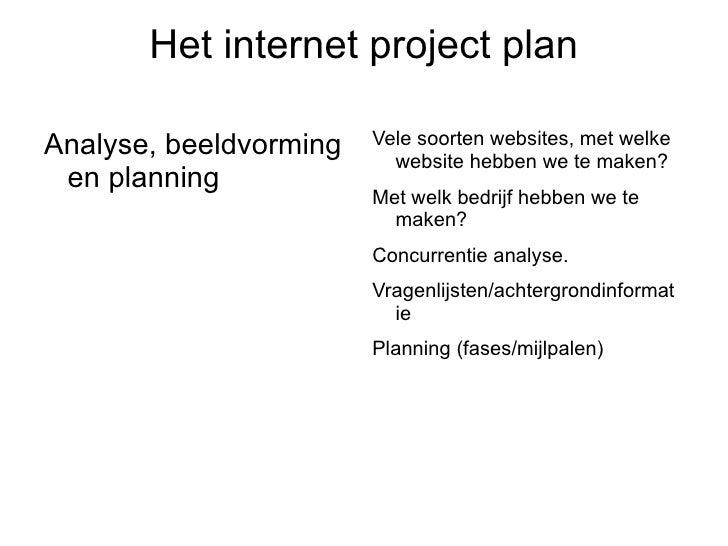 het interproject plan 8
