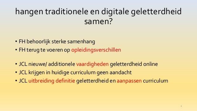 06/18 Traditionele en digitale geletterdheid: samenhang en praktische invulling  Slide 2