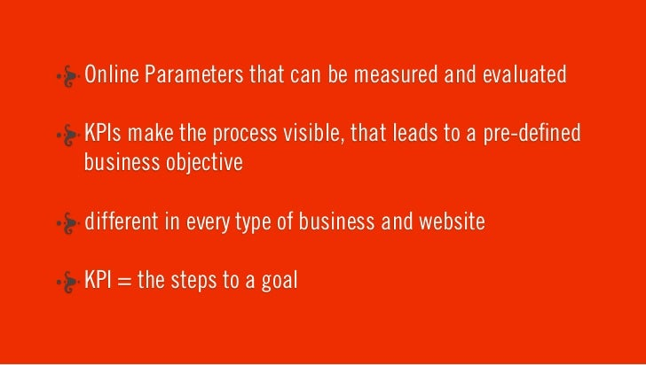 """KPI IS NOT THE GOAL"" How do we translate KPI's to a plan ?"