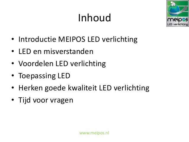 Presentatie led verlichting - Duurzaam Doen Lezing 18 november 2013