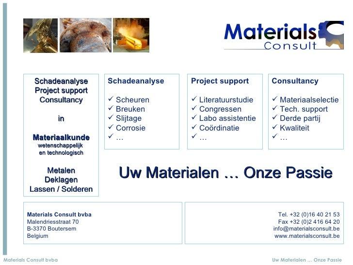 Schadeanalyse         Schadeanalyse   Project support      Consultancy             Project support              Consultanc...
