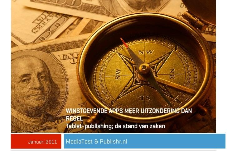 WINSTGEVENDE APPS MEER UITZONDERING DAN               REGEL               Tablet-publishing; de stand van zakenJanuari 201...