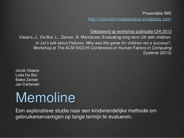 Presentatie IMS                                        http://instituteformediastudies.wordpress.com/                     ...