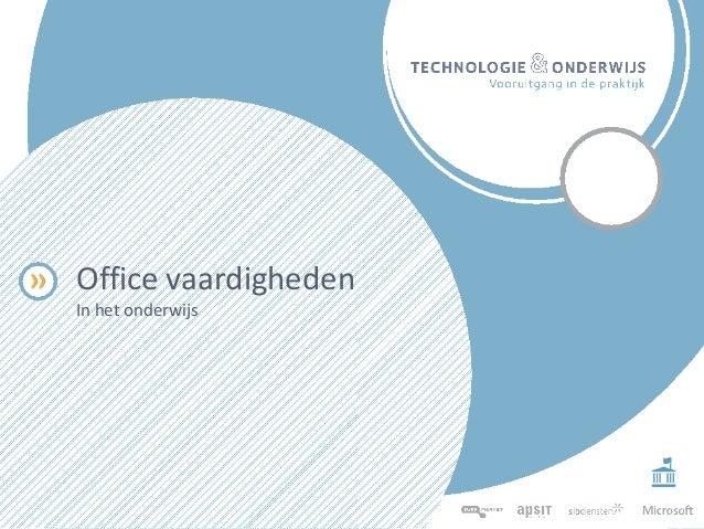 Office vaardigheden In het onderwijs