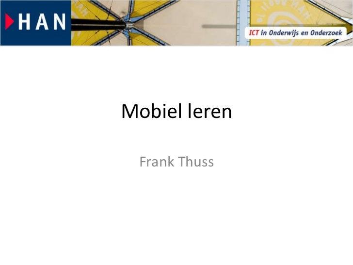 Mobiel leren Frank Thuss