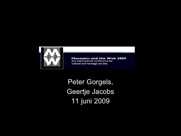 Peter Gorgels, Geertje Jacobs  11 juni 2009