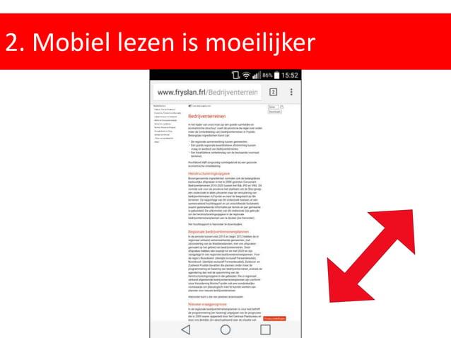 2. Mobiel lezen is moeilijker Workshop Online Copywriting