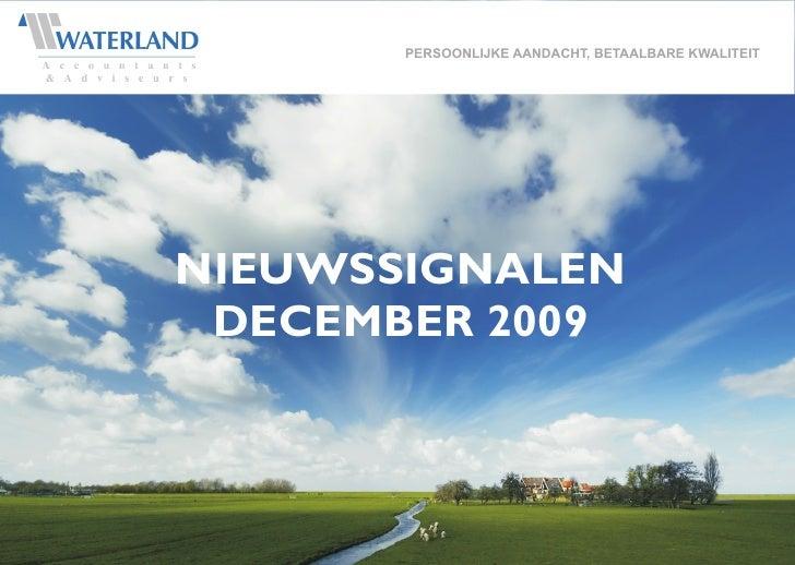 Nieuwssignalen december 2009
