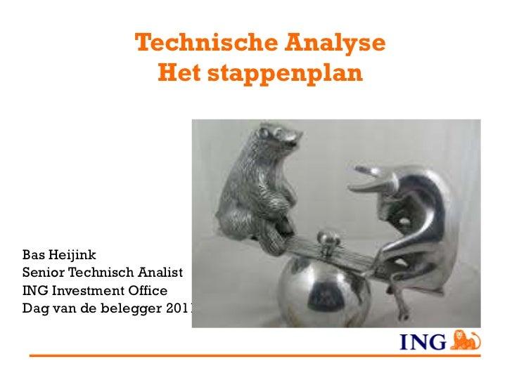 Technische Analyse Het stappenplan Bas Heijink Senior Technisch Analist ING Investment Office Dag van de belegger 2011
