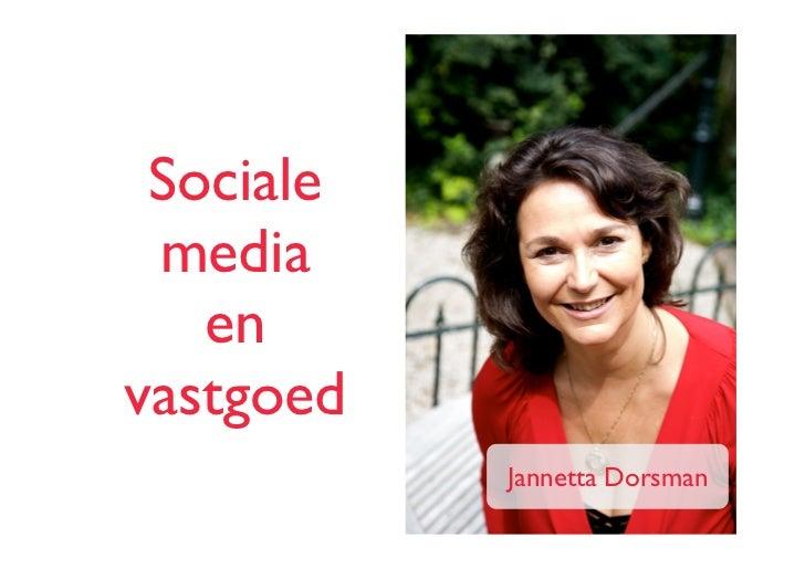 Sociale media   envastgoed           Jannetta Dorsman