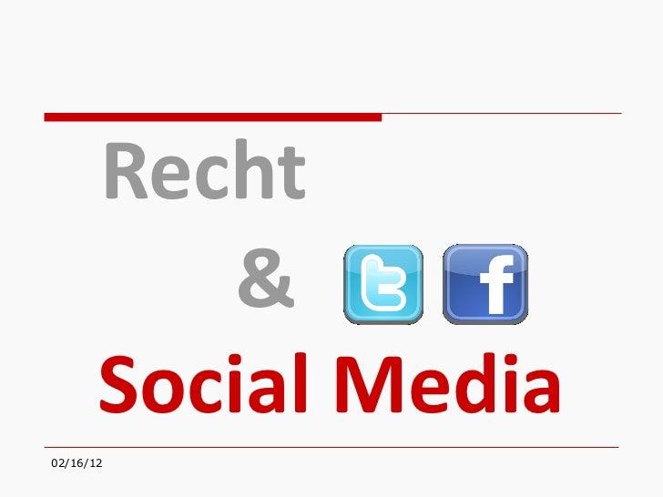 Recht & Social Media
