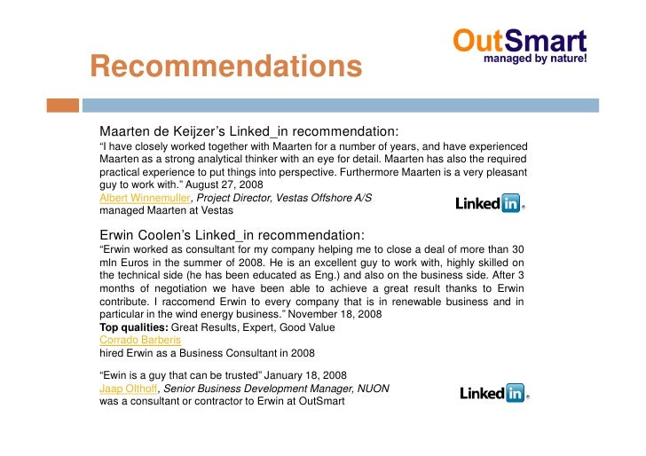 """Recommendations Maarten de Keijzer's Linked_in recommendation: """"I have closely worked together with Maarten for a number o..."""
