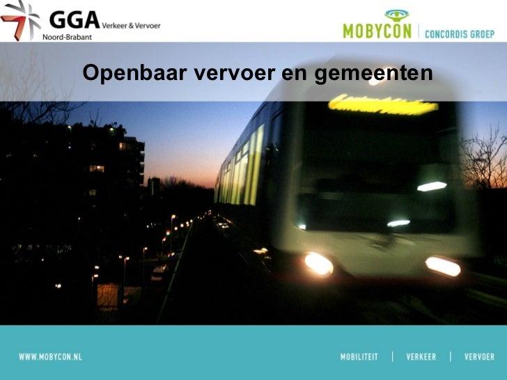 Openbaar vervoer en gemeenten