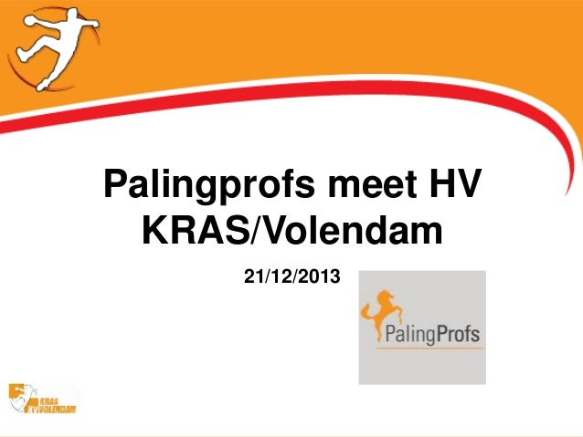 Palingprofs meet HV KRAS/Volendam 21/12/2013