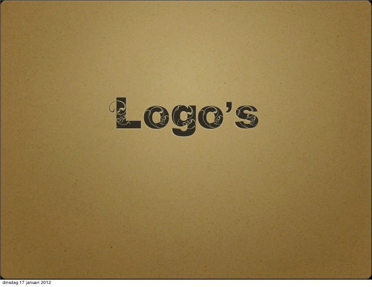 Logo'sdinsdag 17 januari 2012