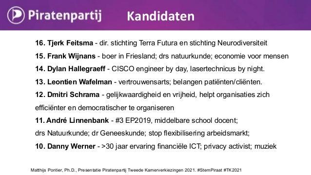 16. Tjerk Feitsma - dir. stichting Terra Futura en stichting Neurodiversiteit 15. Frank Wijnans - boer in Friesland; drs n...