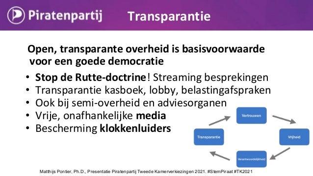 Open, transparante overheid is basisvoorwaarde voor een goede democratie • Stop de Rutte-doctrine! Streaming besprekingen ...