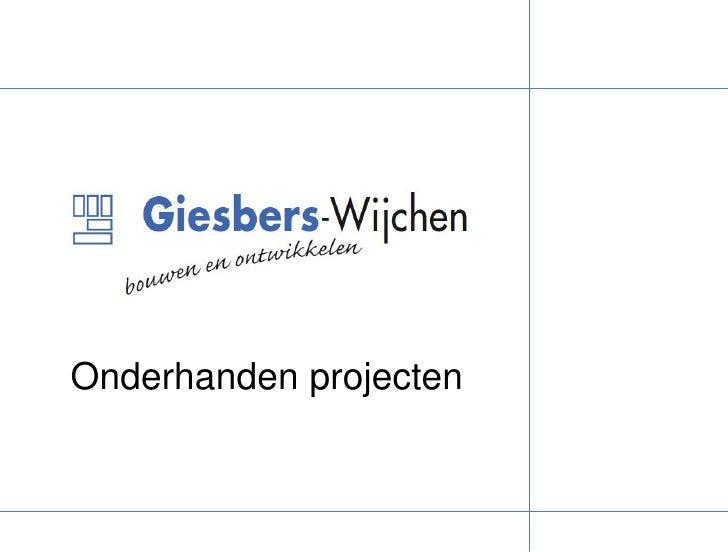 Onderhanden projecten