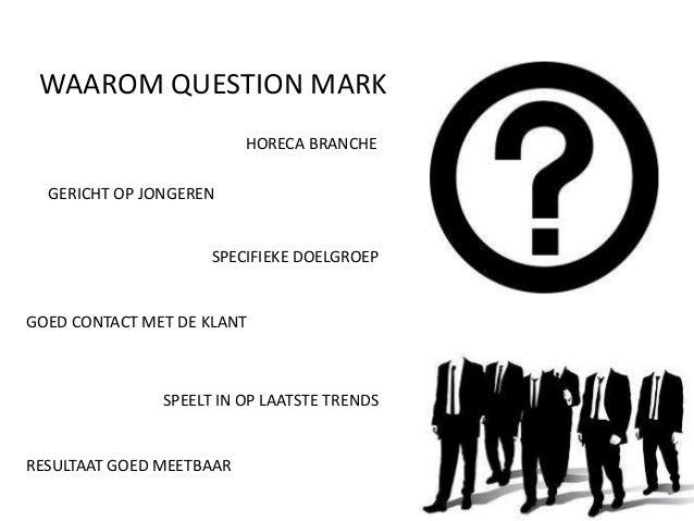 Presentatie question mark