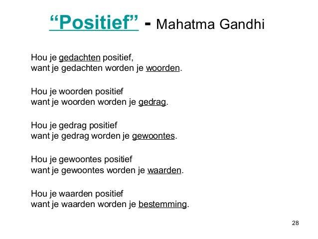 positieve gedachten lijst