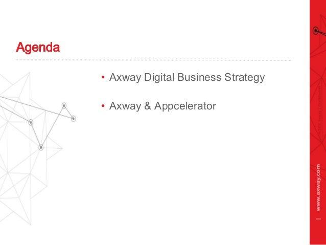 • Axway Digital Business Strategy • Axway & Appcelerator