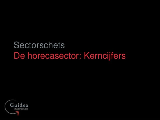 Sectorschets De horecasector: Kerncijfers