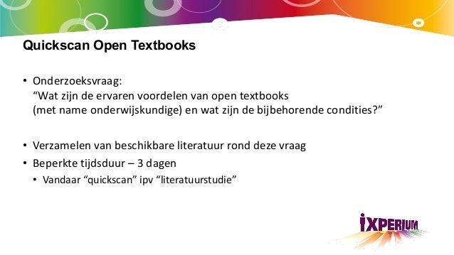 Quickscan Open Textbooks Slide 2