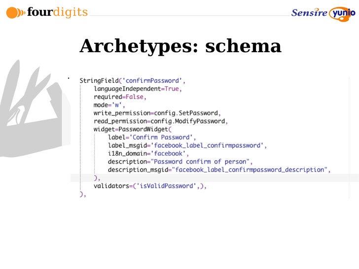 Archetypes: schema 