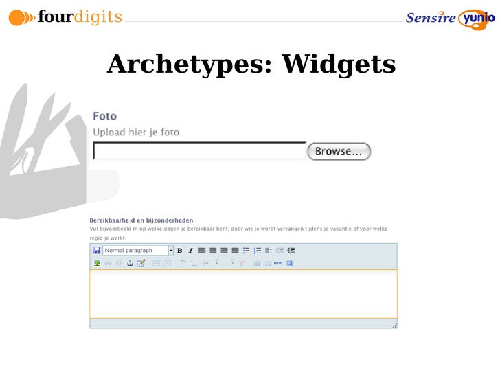Archetypes: Widgets