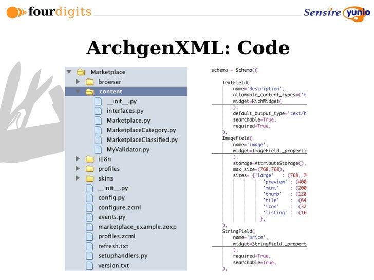 ArchgenXML: Code