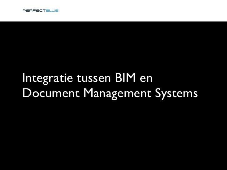 Integratie tussen BIM en Document Management Systems