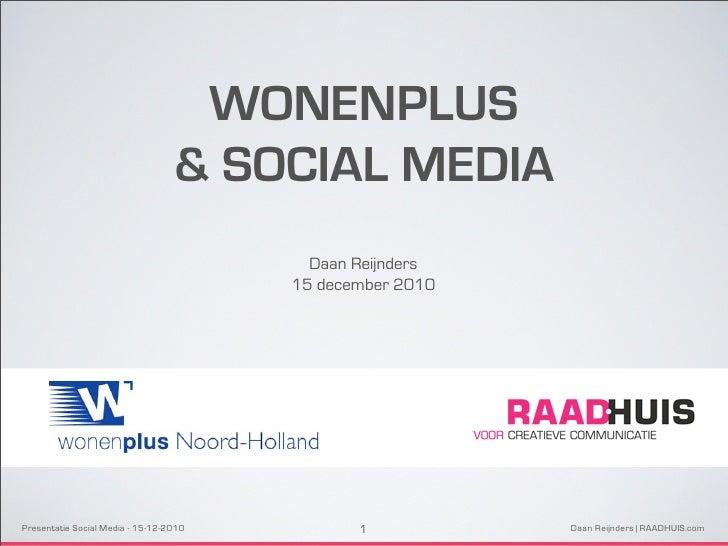 WONENPLUS                                  & SOCIAL MEDIA                                          Daan Reijnders         ...