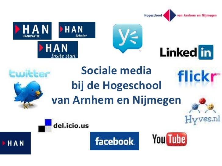 Sociale media bij de Hogeschool van Arnhem en Nijmegen<br />