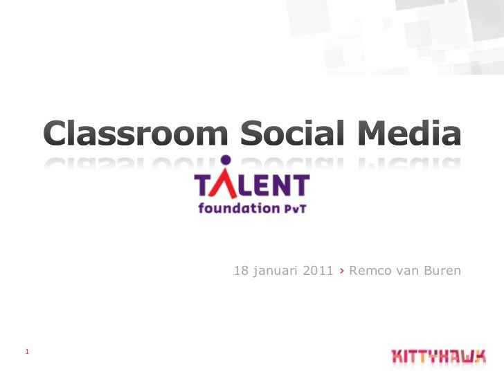 Presentatie social media marketing voor benefiet actie Talent foundation