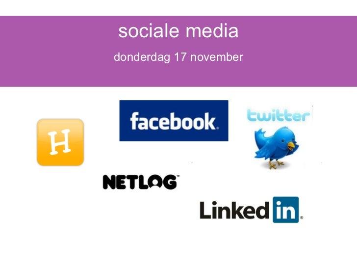 sociale media donderdag 17 november
