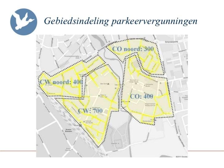 Gebiedsindeling parkeervergunningen