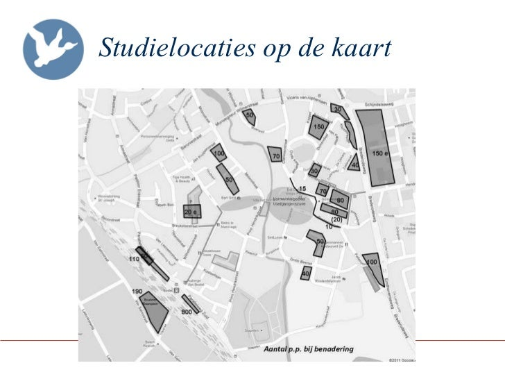 Studielocaties op de kaart