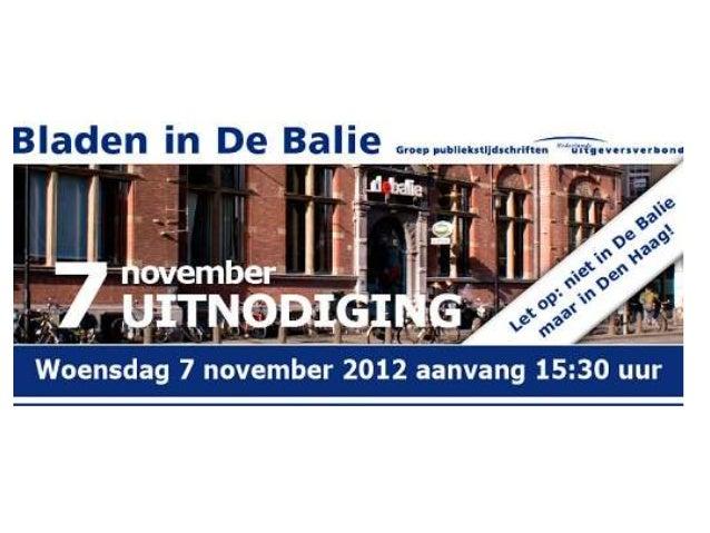 Presentatie Theo Eijspaart - Bladen in Den Haag - NUD 2012