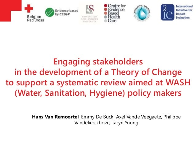 Engaging stakeholders in the development of a Theory of Change to support a systematic review aimed at WASH (Water, Sanita...