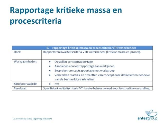 plan van aanpak doel Presentatie toelichting plan van aanpak kwaliteitscriteria vth waterb… plan van aanpak doel