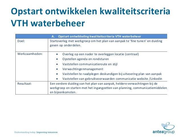 plan van aanpak verbeterplan Presentatie toelichting plan van aanpak kwaliteitscriteria vth waterb… plan van aanpak verbeterplan