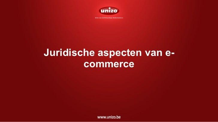 Juridische aspecten van e-commerce