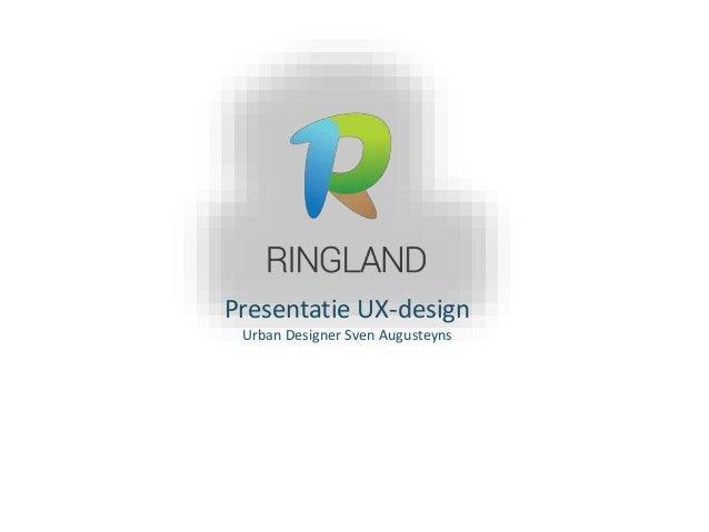 Presentatie UX-design Urban Designer Sven Augusteyns