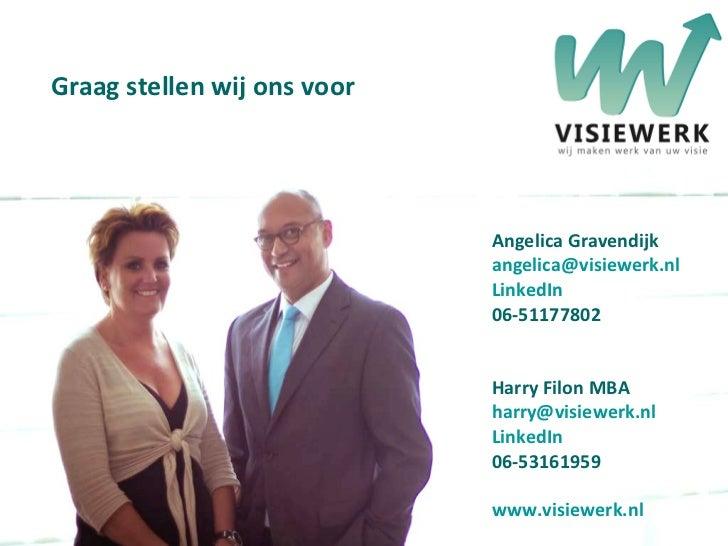 Graag stellen wij ons voor Angelica Gravendijk [email_address] LinkedIn 06-51177802 Harry Filon MBA [email_address] Linked...