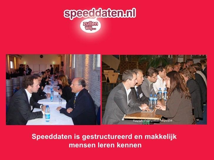 Speeddaten is gestructureerd en makkelijk  mensen leren kennen