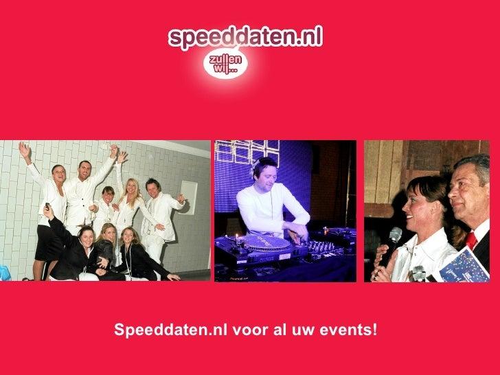 Speeddaten.nl voor al uw events!
